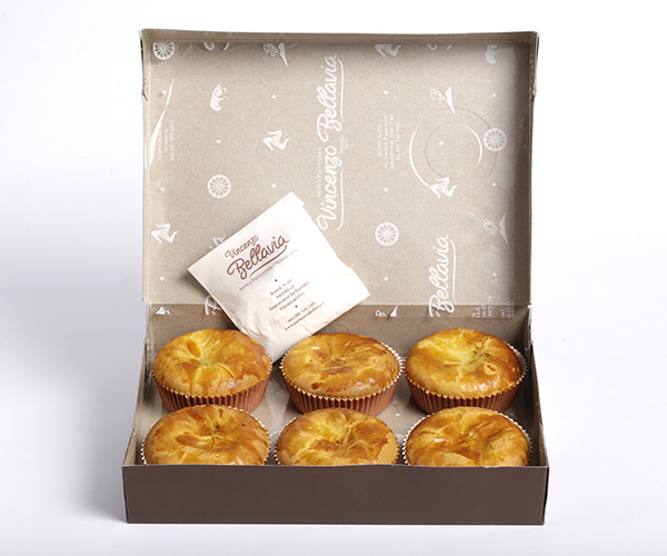 scatola pasticcini crema amarena bellavia